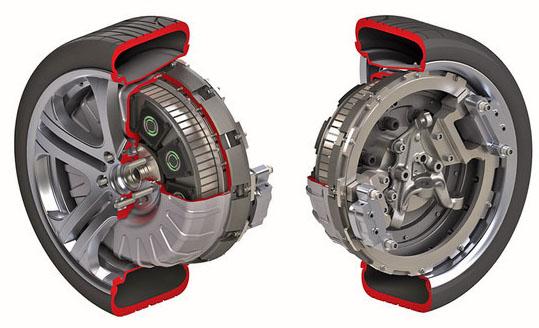 新能源汽车之轮毂电机技术的说明和其优势